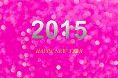 Year 2015 Purple Abstract Light Background (bokeh)
