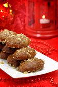 Traditional Christmas dessert with honey syrup