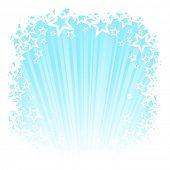 light blue shine star background