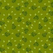 green clover seamless pattern