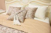 closeup pillows with decorative element