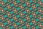 Arabesque Turquoise Pattern Background