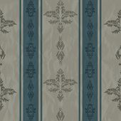 damask pattern vintage with line