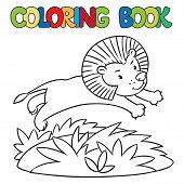 Coloring Book Of Little Lion