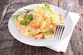 pasta and salmon