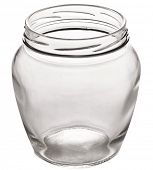 Empty glass can. File contains clipping paths.