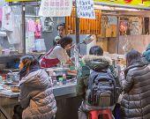 Dessert Vendor At Night Market In Taipei