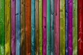 Colorful background with wooden planks