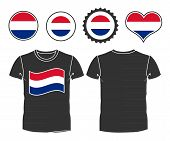 t-shirt with the flag  Netherlands