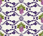 Decorative Grapes Beautiful Grape Pattern