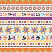 Abstract Vector Ethnic Seamless Pattern. Use For Wallpaper, Pattern Fills, Web Page Background
