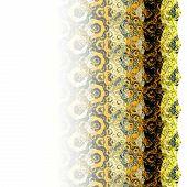 Gradient Yellow Fractal Flower Hexagon Pattern