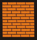Orange Brick Wall. Vector Clip Art