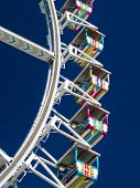 Crop of cabins of a Ferris Wheel poster