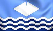 Isle Of Wight Flag, England.