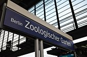 Berlin Zoo Garten railway station sign
