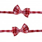 handmade scottish bow tie isolated on white background