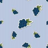 Grape Pattern. Seamless Texture With Ripe Grape