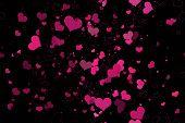 Beautiful seamless pattern with hearts,