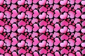 Beautiful seamless pattern with hearts,