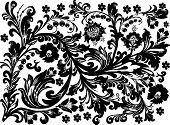 illustration with black floral decoration