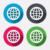 Globe sign icon. World symbol.