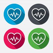 picture of heartbeat  - Heartbeat sign icon - JPG
