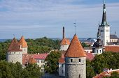 pic of olaf  - Top view on beautiful colorful buildings of Old Town TALLINN ESTONIA - JPG