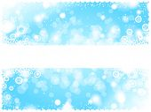 light blue winter card with text space
