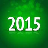 2015 New Year card with green background