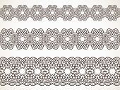 Ornamental floral Seamless border Vector set