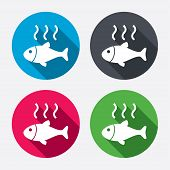 foto of fish icon  - Fish hot sign icon - JPG