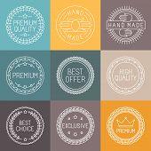 Vector Set Of Premium Labels