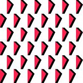 Seamless Triangle Pattern. Vector Red and Black Geometric Pattern