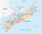 Nova Scotia Administrative Map