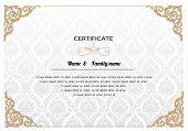 Certificate Design Template. thai pattern vector illustration
