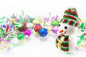 Snowman And Christmas Ornaments