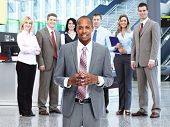 African-American Businessman and group of business people