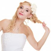 pic of white gown  - Wedding day - JPG