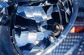 image of headlight  - Car headlight extreme close - JPG