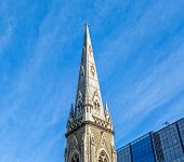 picture of collins  - Tower of the Scots Church famous on the Collins Street - JPG