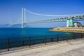 picture of suspension  - Akashi Kaikyo Bridge the world - JPG
