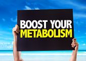 image of enzyme  - Boost Your Metabolism card with beach background - JPG