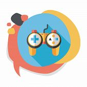 picture of controller  - Game Controller Flat Icon With Long Shadow - JPG