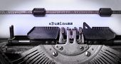 picture of ebusiness  - Vintage inscription made by old typewriter eBusiness - JPG