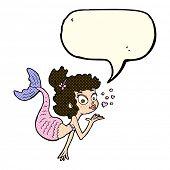 pic of mermaid  - cartoon pretty mermaid with speech bubble - JPG