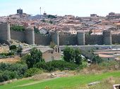 picture of fortified wall  - Ancient wall and towers around Fortified Potugese Town - JPG