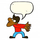 pic of annoying  - cartoon annoyed man gesturing with speech bubble - JPG