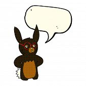 pic of spectacles  - cartoon rabbit wearing spectacles with speech bubble - JPG