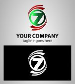 stock photo of number 7  - Number seven 7 logo icon template elements - JPG